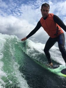 Gastroenterologist by day, professional wake surfer by night