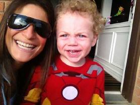 Iron Man D and Auntie Jodi